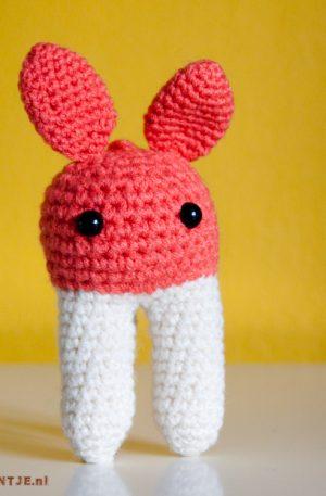 konijn rammelaar met knisperoren