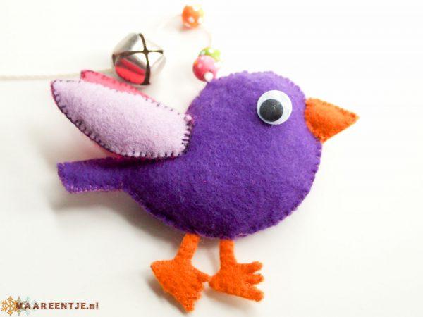 Vilten mobiel vogel
