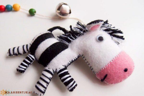 Vilten mobiel zebra